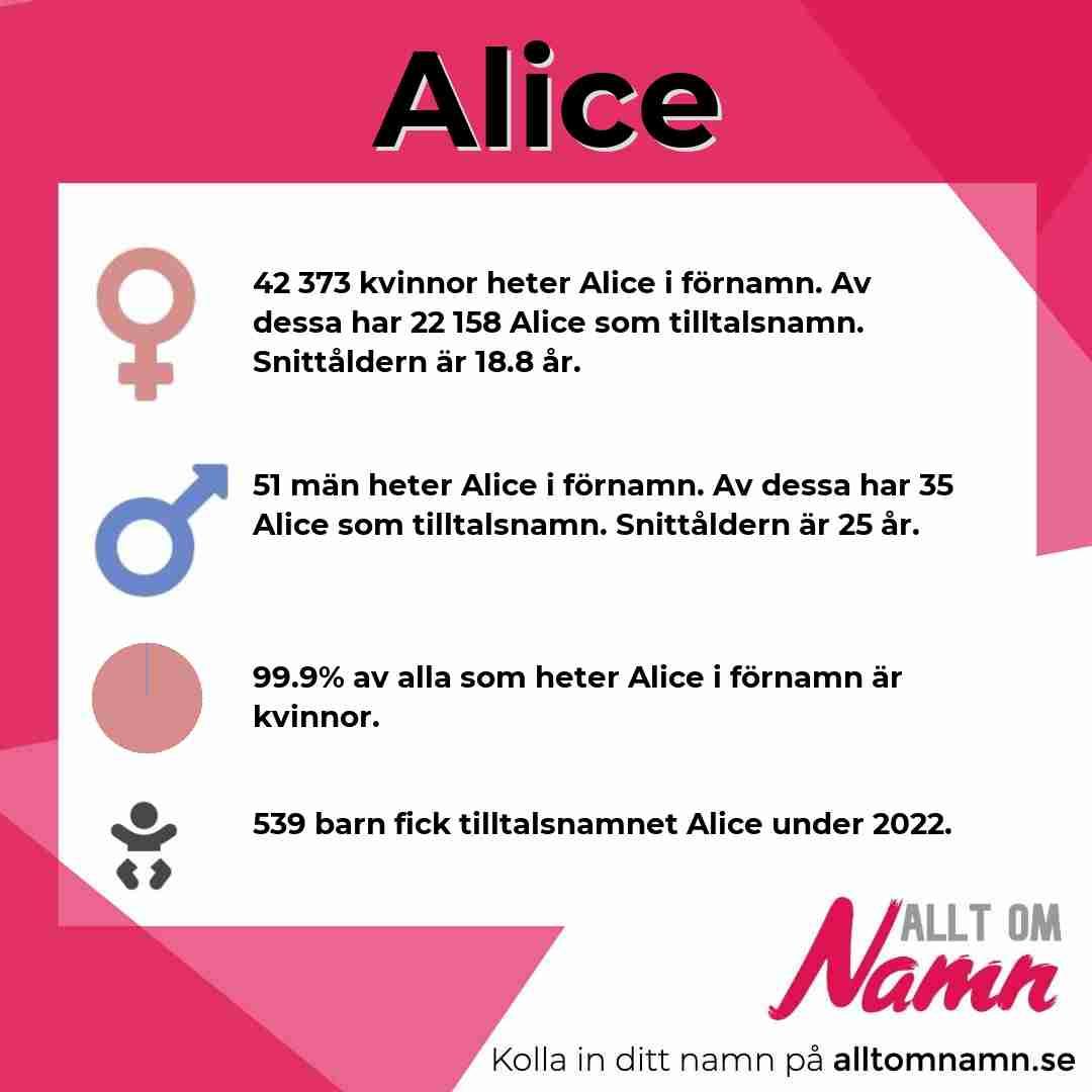 Bild som visar hur många som heter Alice