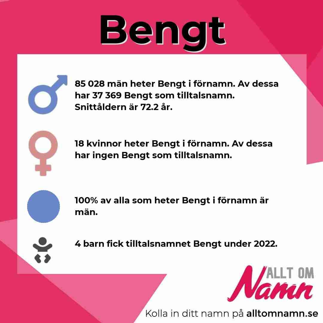 Bild som visar hur många som heter Bengt