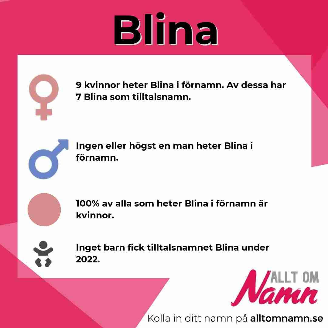 Bild som visar hur många som heter Blina