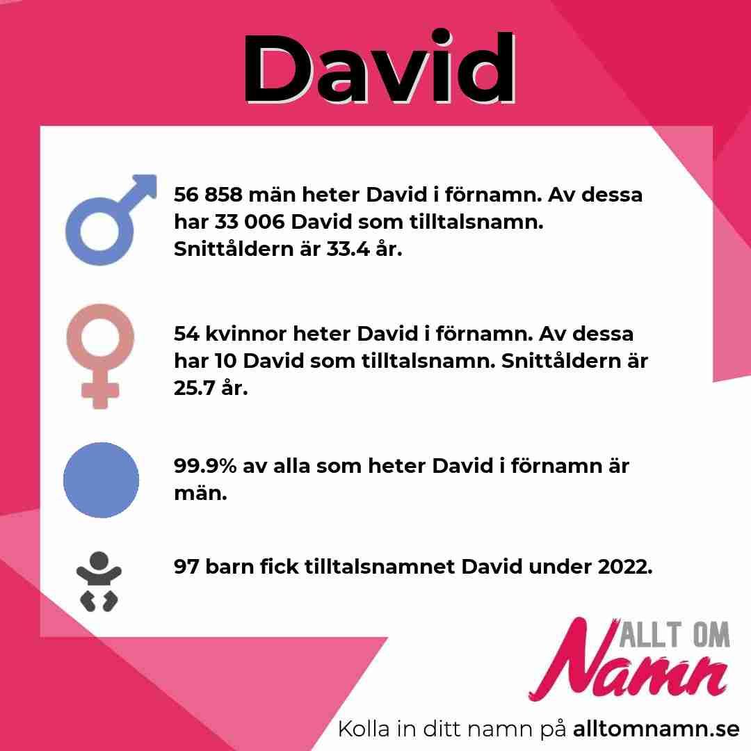 Bild som visar hur många som heter David