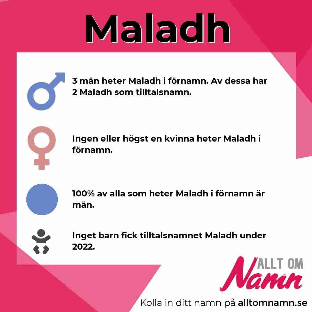 Bild som visar hur många som heter Maladh