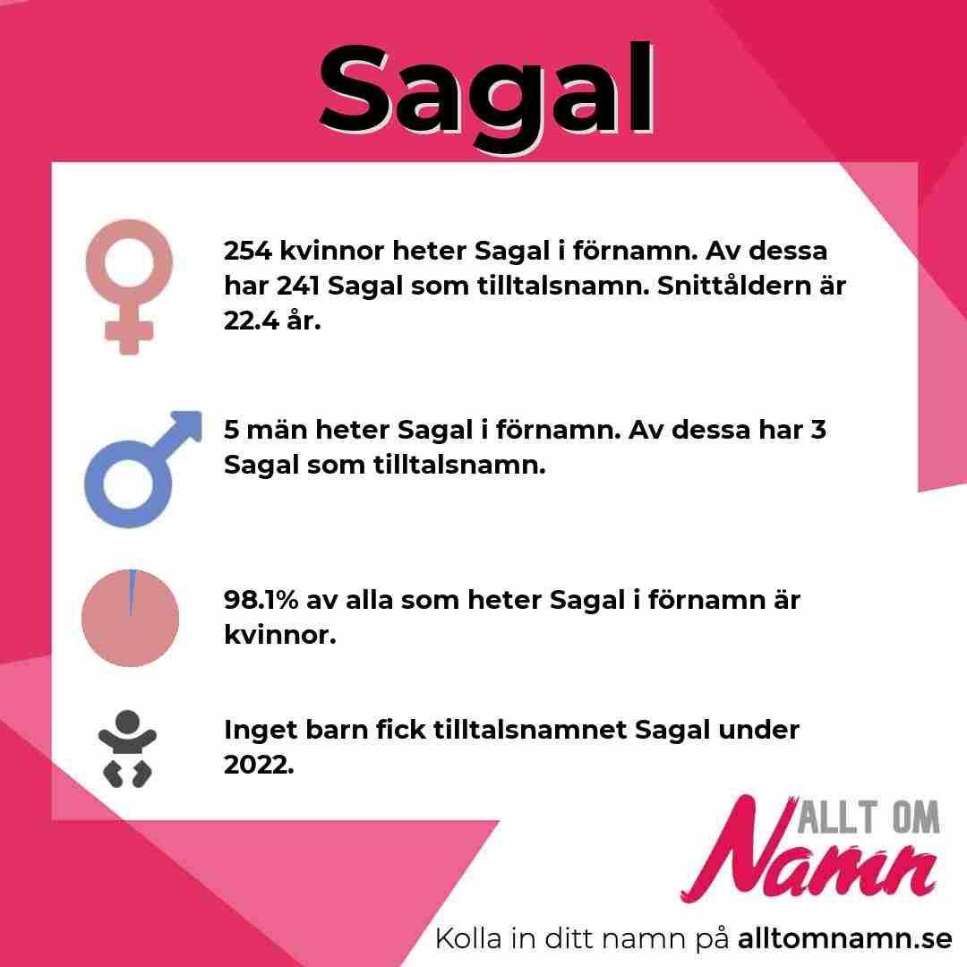 Bild som visar hur många som heter Sagal