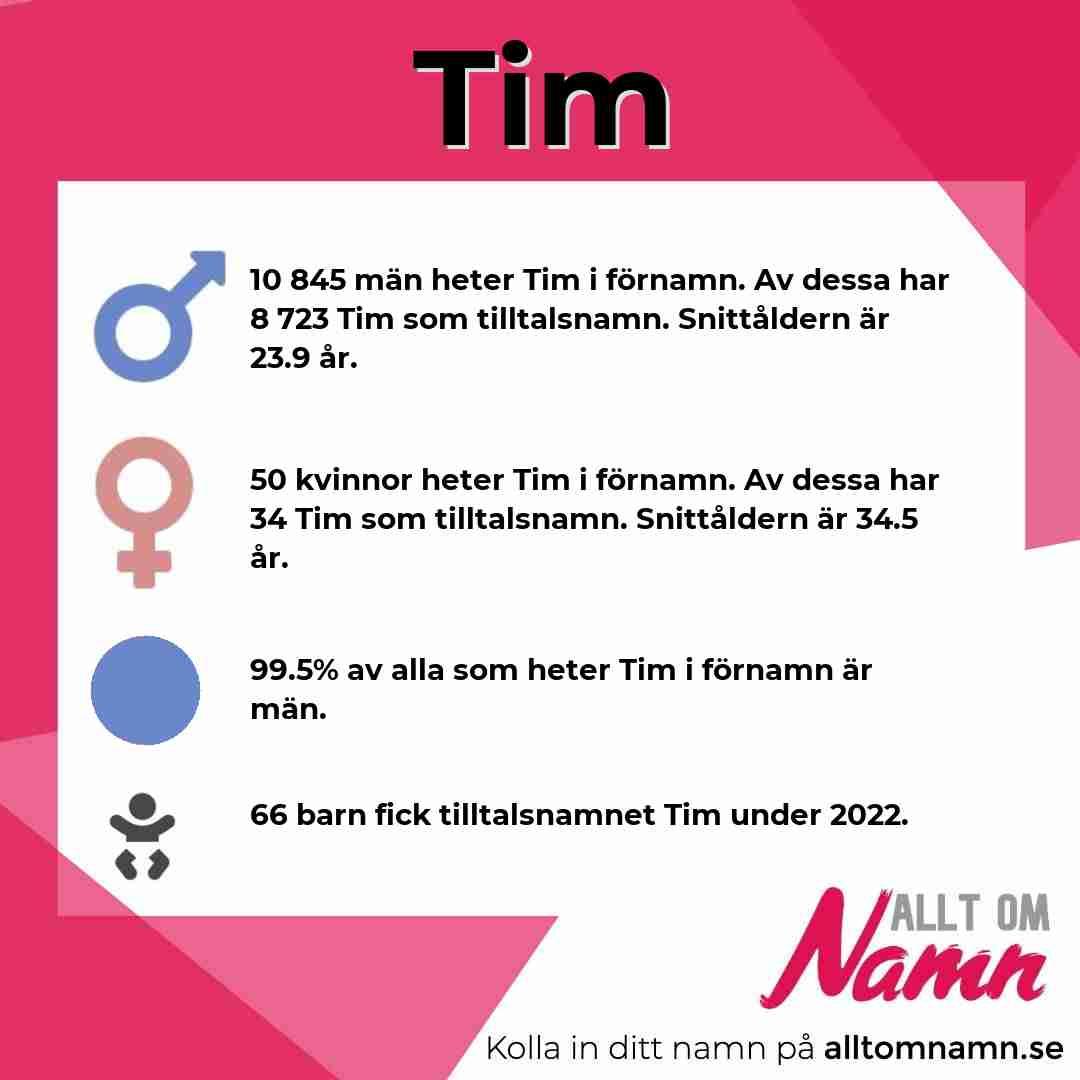 Bild som visar hur många som heter Tim